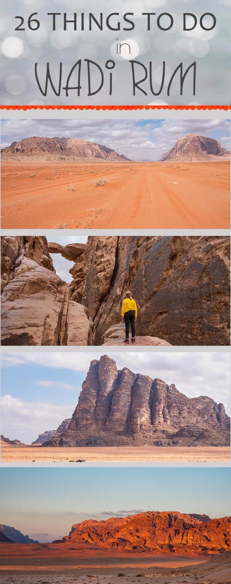 26 things you can do in Wadi Rum from Um sabatah Camp