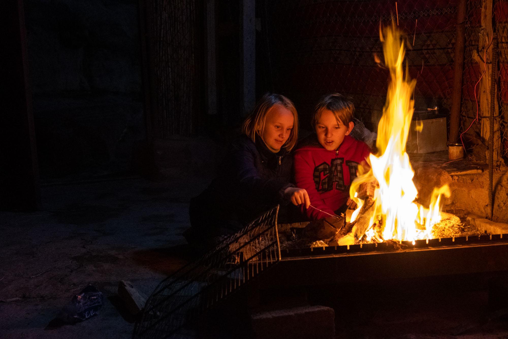 camp fire little petra