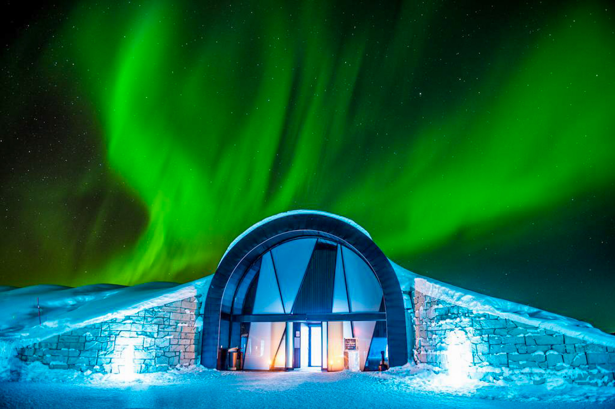 Family friendly ice hotel
