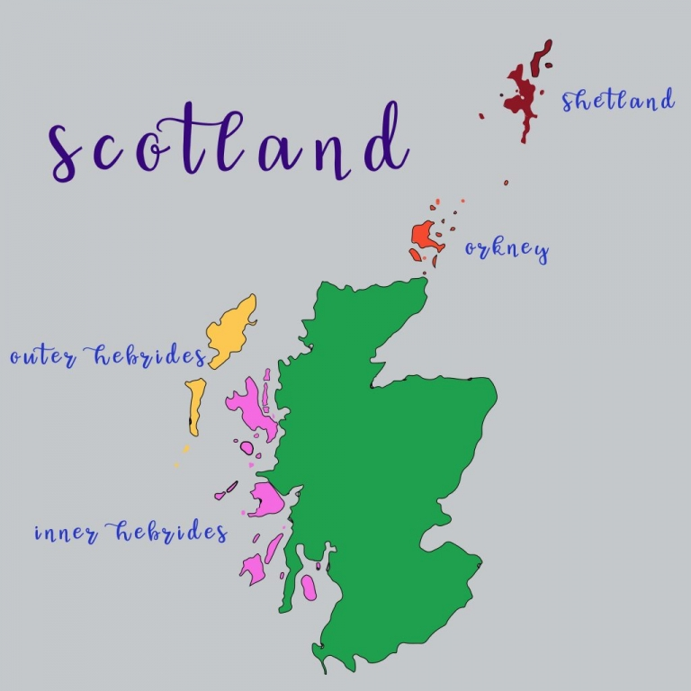 Map Of Scottish Islands