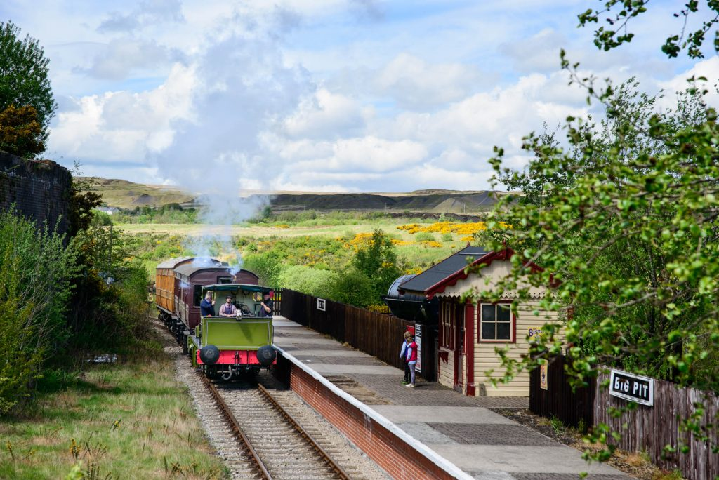 Choo-Choo. All aboard Blaenavon steam train to the Big Pit. Wales