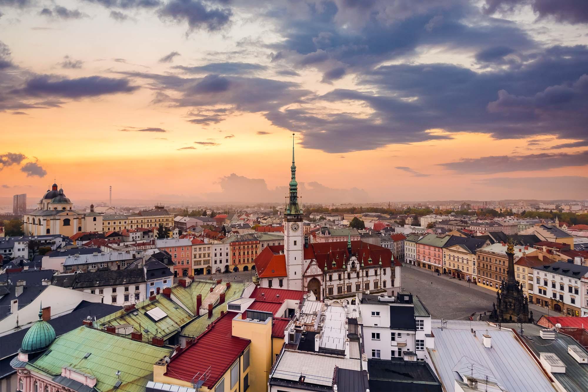 Olomouc city,  Czech Republic. Sunset