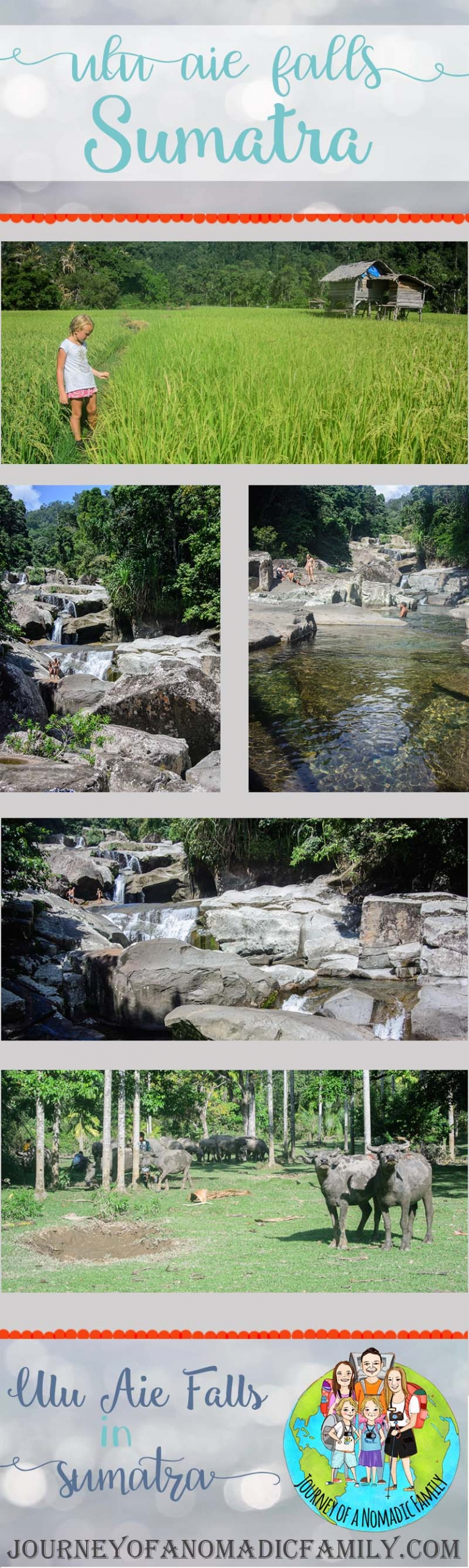 Hiking the waterfalls of Ulu Aie in Sunai Pinang, Sumatra and jumping 10m into the pools below.