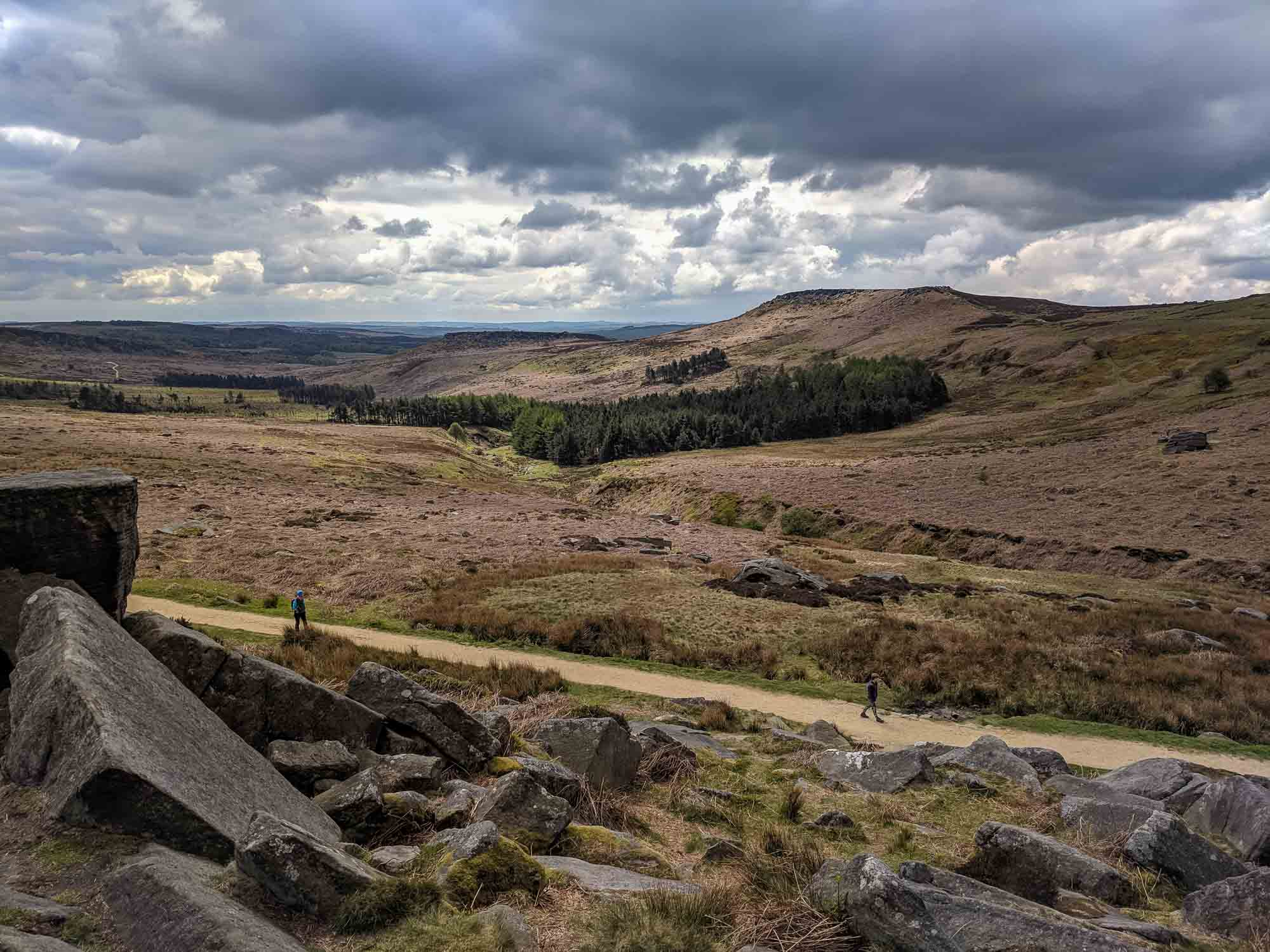 The scenery from Burbage Rocks
