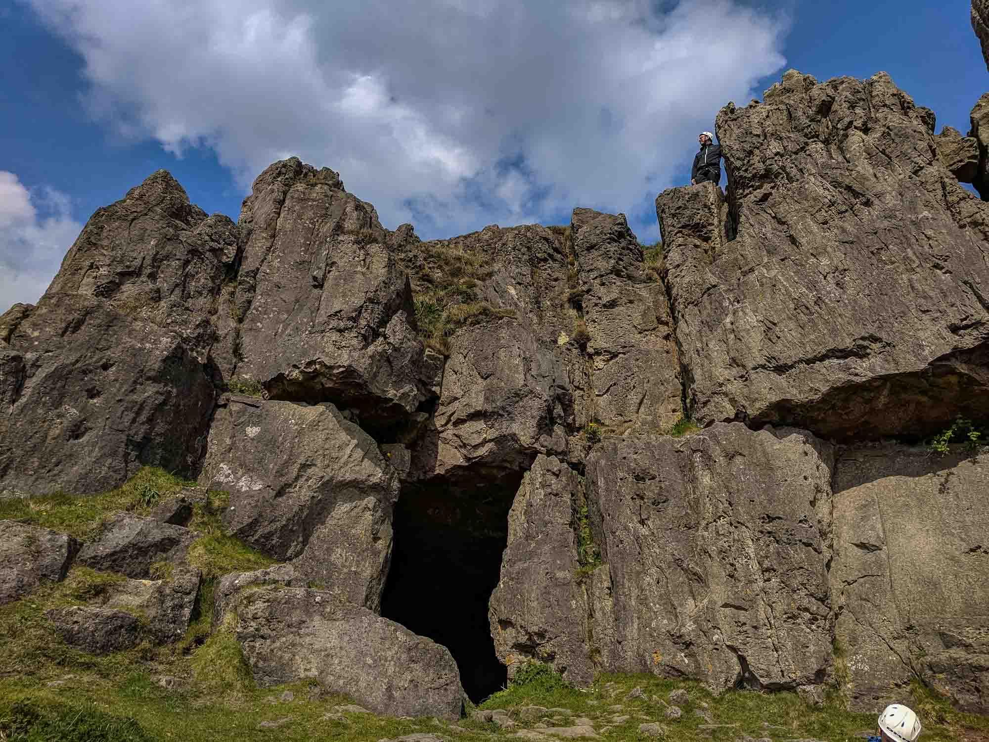 Harborough Rocks Cave Entrance