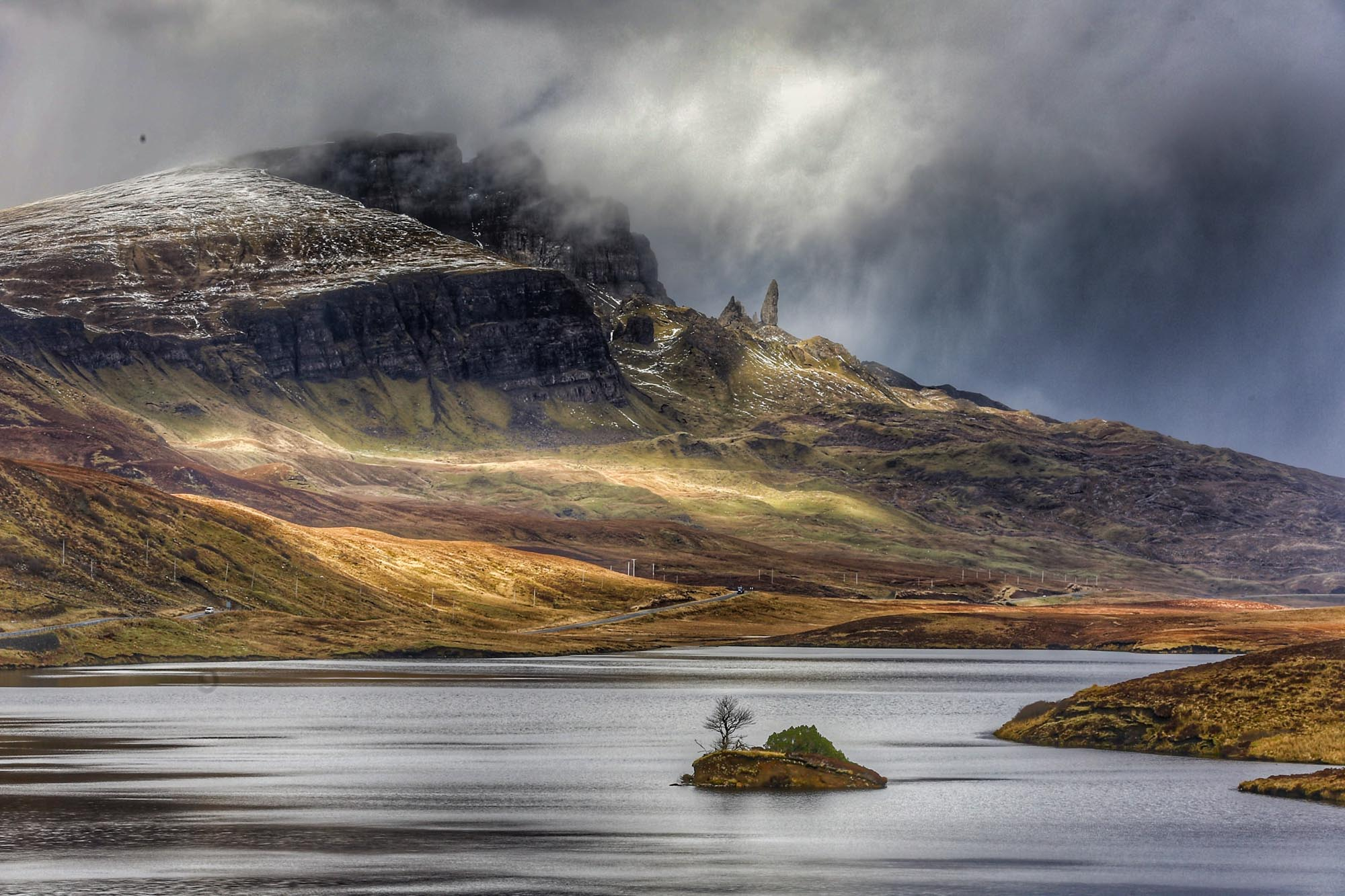 Isle of Skye. Winter in Scotland