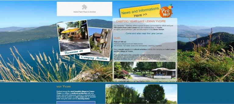 Camping Mathieu: Camping near Lake Geneva