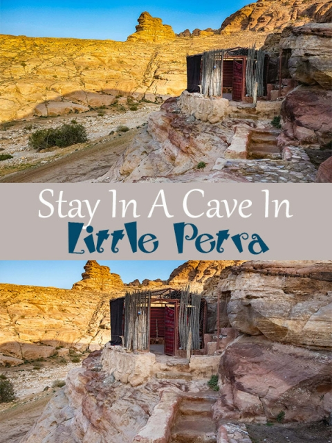 If you fancy a bit of adventure, you can stay in a Bedouin Cave in Little Petra. How amazing is that!