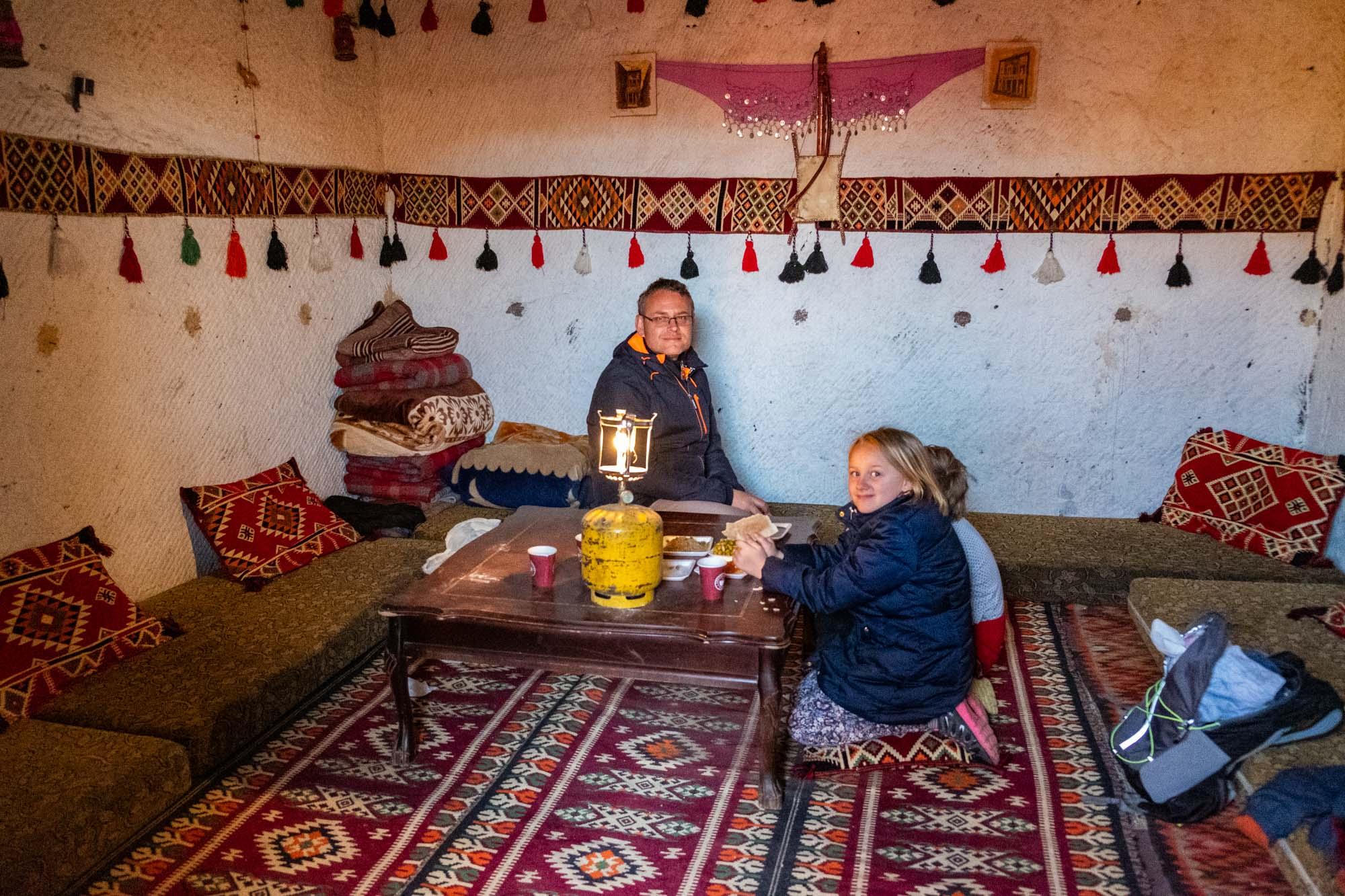 Bedouin cave Jordan Little Petra