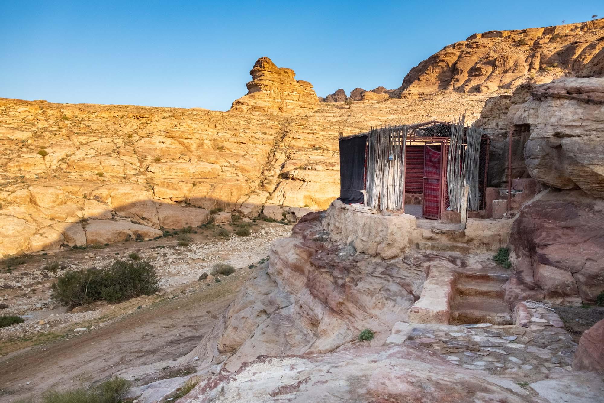 Bedouin cave little petra