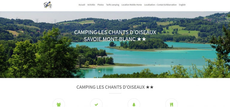 les chants d'oiseaux: Camping near Lake Geneva