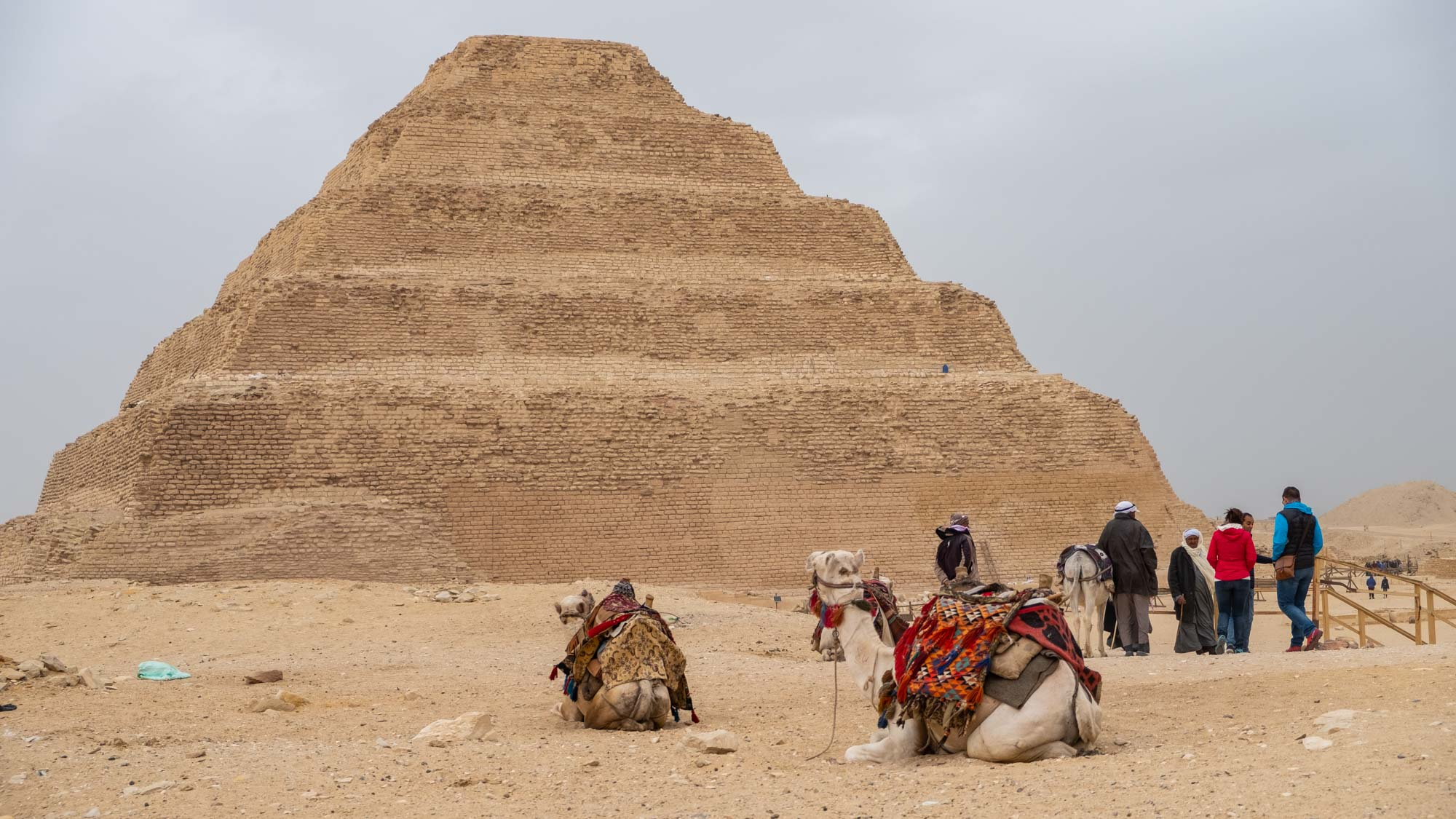 Egyptian pyramid in Saqqara