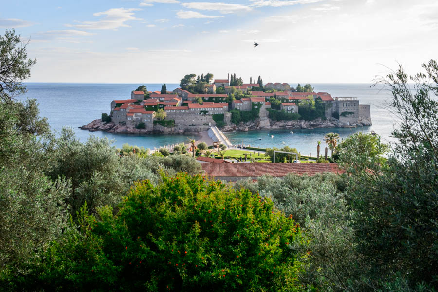 Sveti Stefan the elitist island for the rich. Montenegro