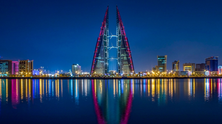 world's smallest populations. Bahrain skyline