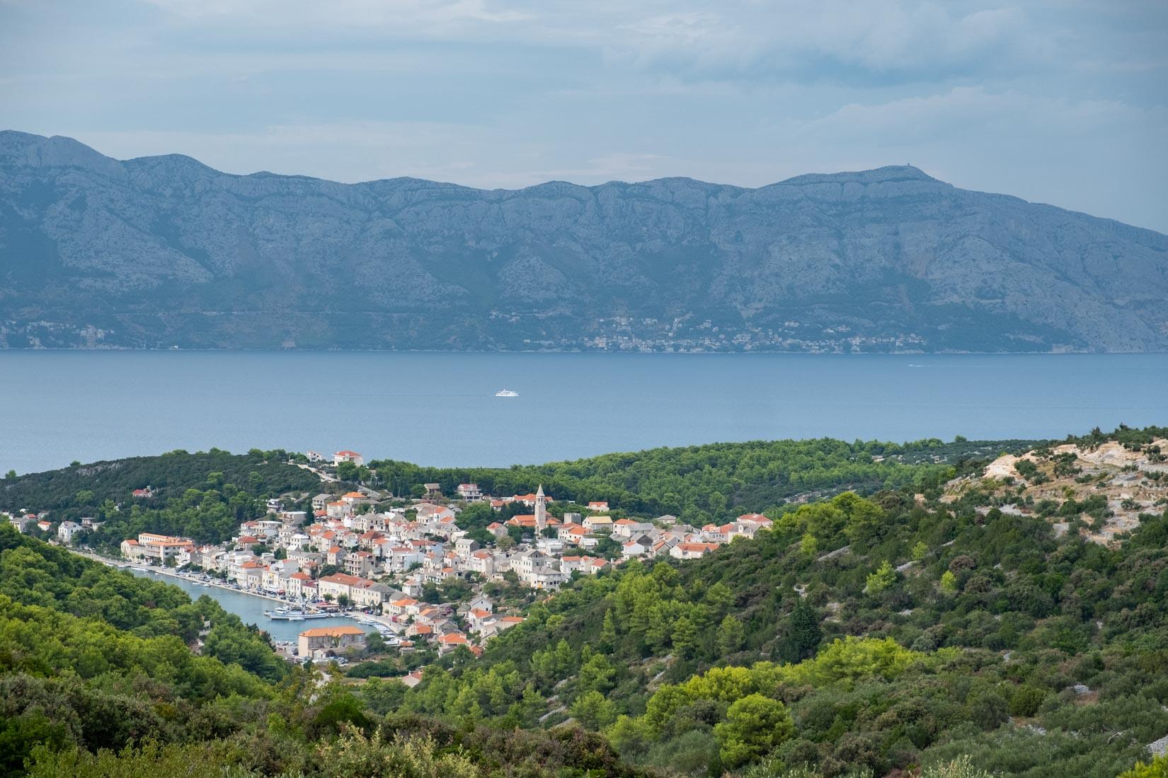 Hills of Brac Island, Croatia