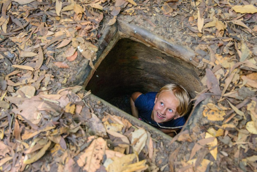 Cu Chi; How do you fancy living in a tunnel?