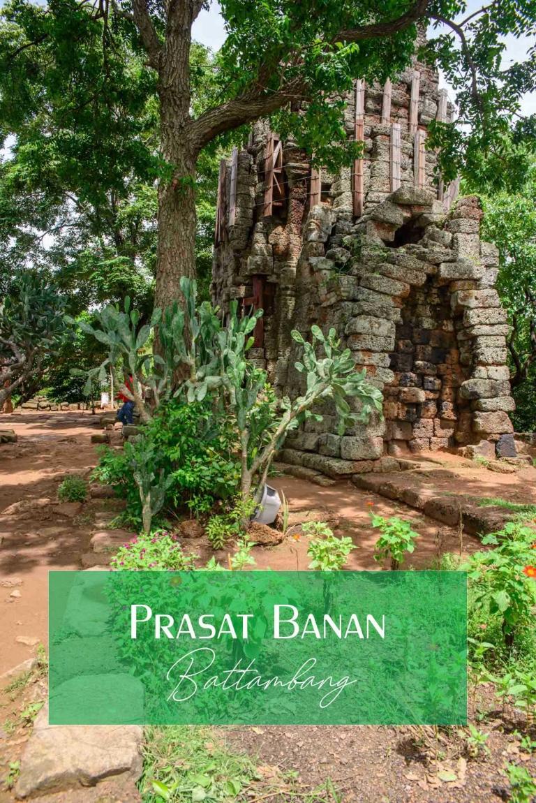 Prasat Banan & the 358 Sweltering Steps Up. Battambang, Cambodia