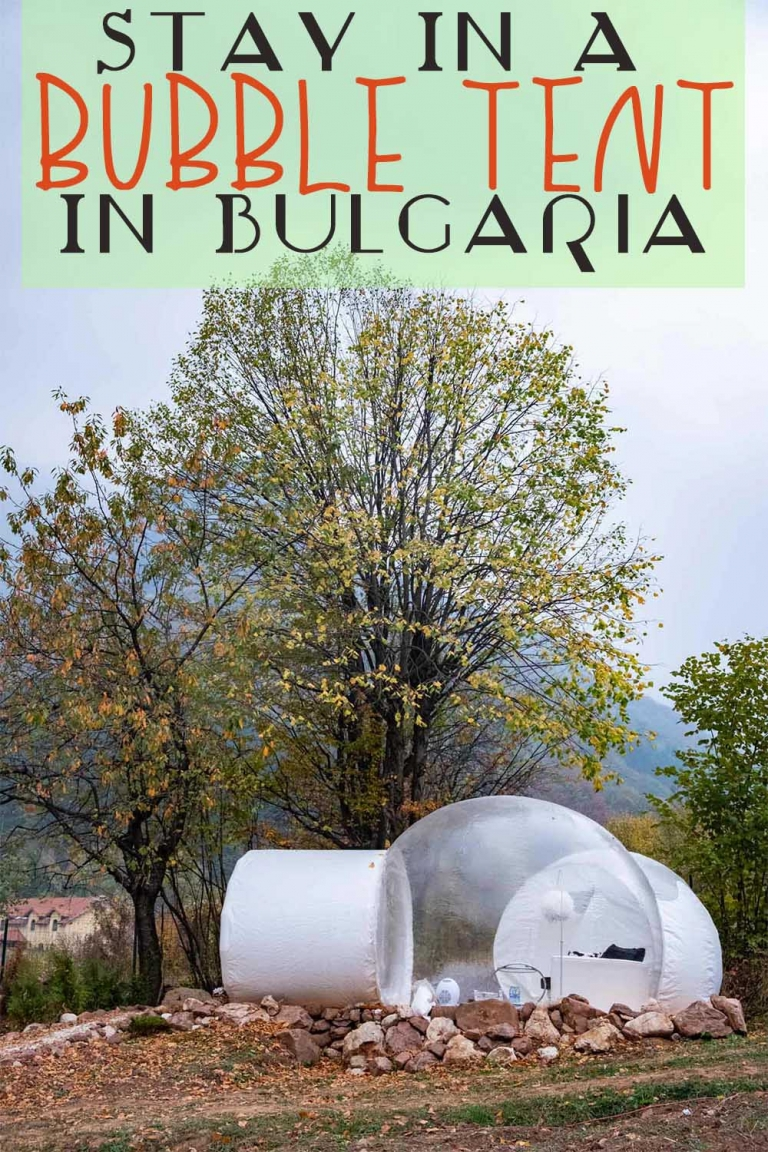Stay in a bubble tent in the undiscovered mountains of Vratsa, Bulgaria