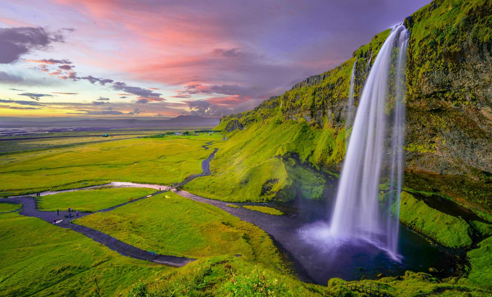 iceland, waterfall