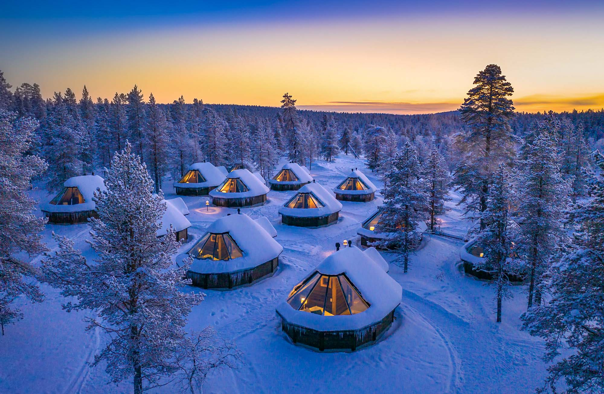 Muotka glass igloos