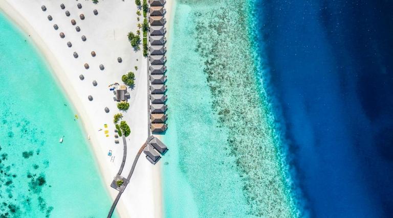 Maldives. Beach hut.