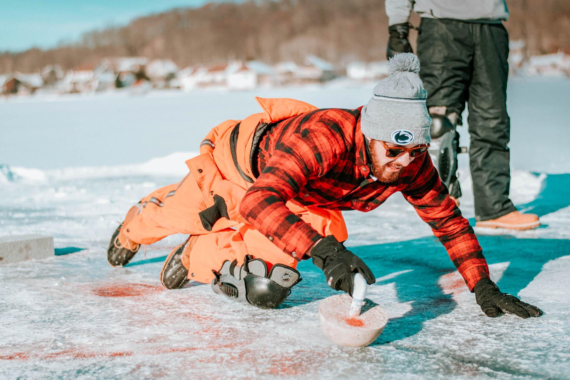 Curling, Scotland in winter