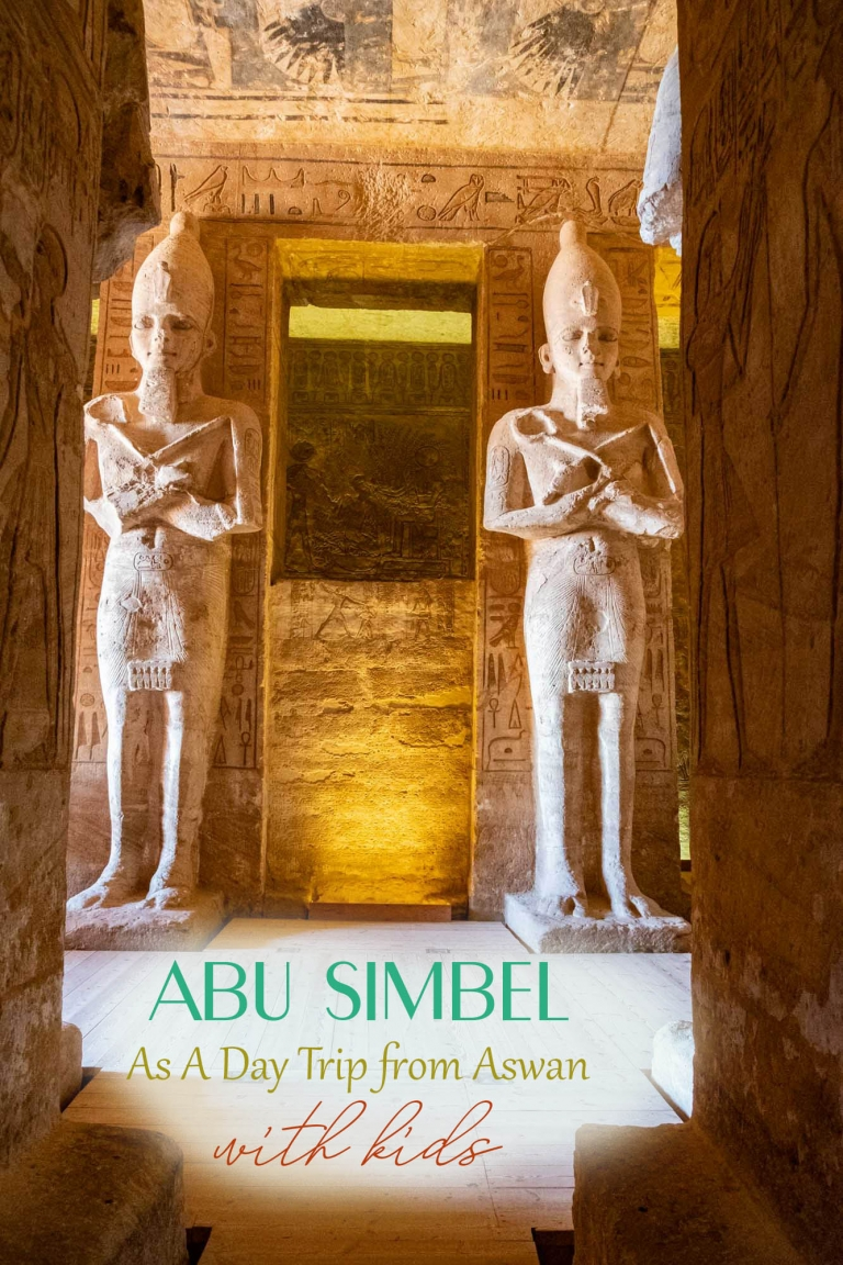 Abu SImbel from Aswan as a day trip, with kids