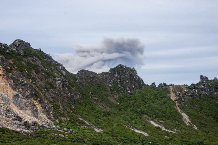 A plume of ash was released whilst we were up there