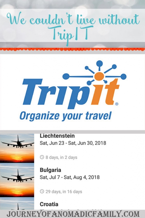 Why we use and LOVE TripIt to organise and communicate travel plans.