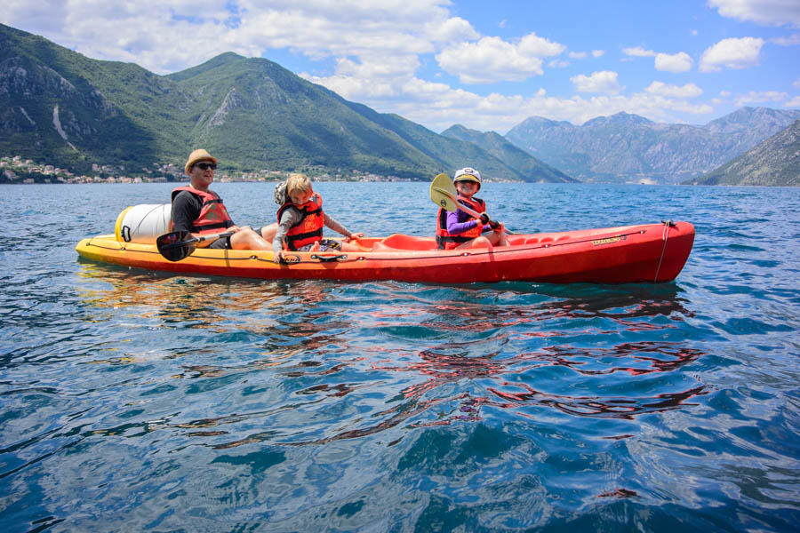 How to canoe those glorious turquoise waters of the Bay of Kotor