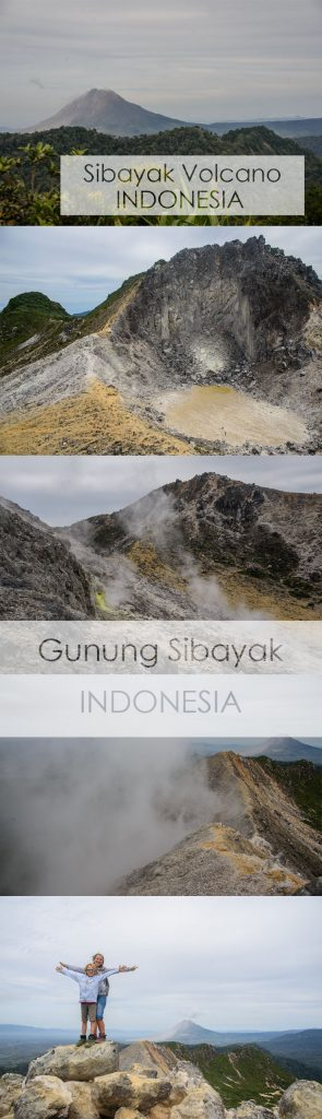 How to climb Gunung Sibayak in Indonesia ALONE with kids.