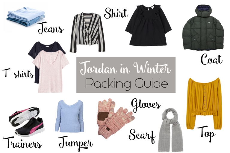 A packing guide for winter in jordan