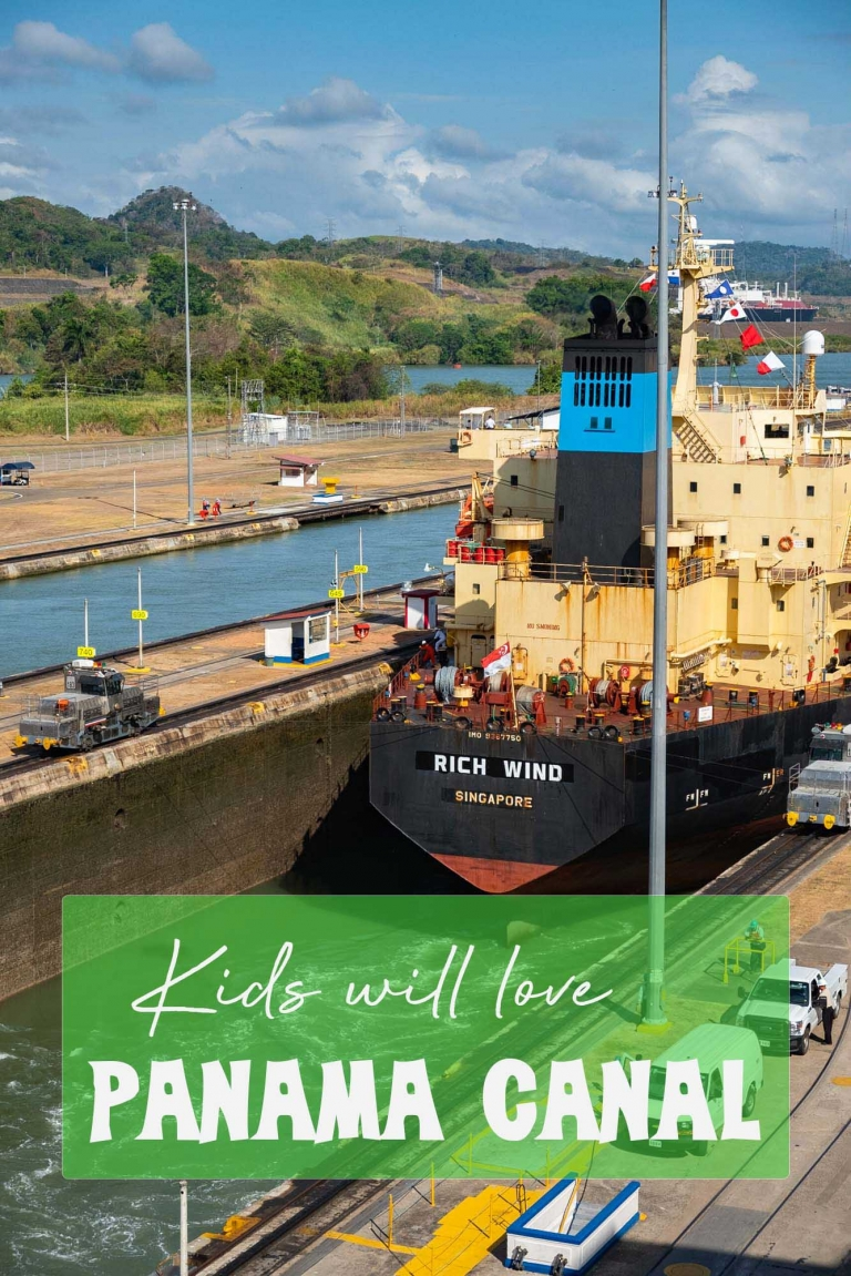 A trip to the Panama Canal is essential for kids who love hands on learning and watching ginormous boats.