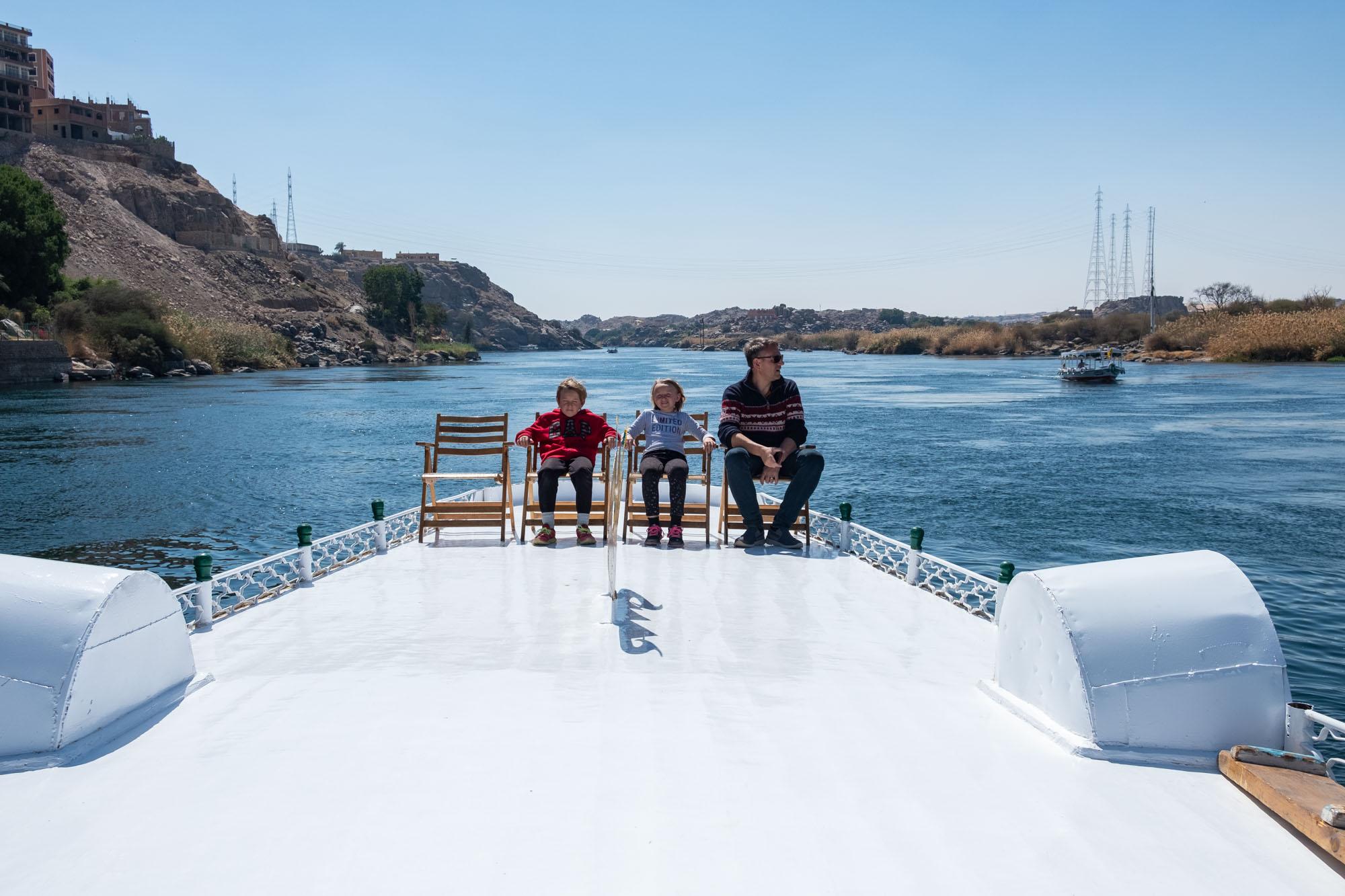 kids nile boat