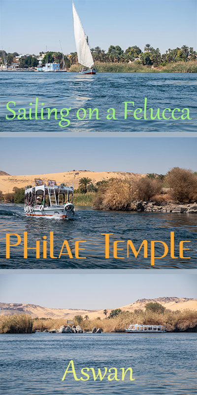 Sailing on a felucca to Philae Temple in Aswan with kids