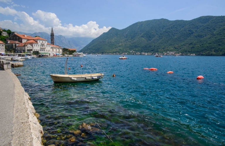 The view over Perast church