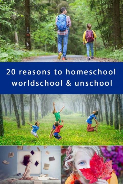 20 reasons to homeschool worldschool & unschool