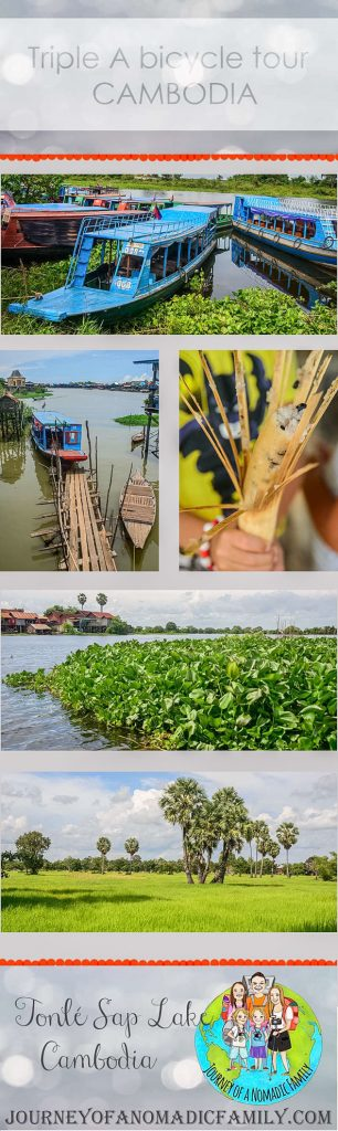 The best tour from Siem Reap is this one with Triple A. A short visit to a market on bikes followed by time on the lake of Tonlé Sap and visiting a local house for lunch. A trip out onto the lake to see the floating village completes this awesome day!