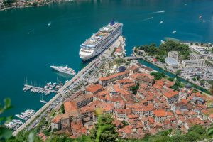 1350 steps up to Kotor's San Giovanni Fortress Walls. Montenegro
