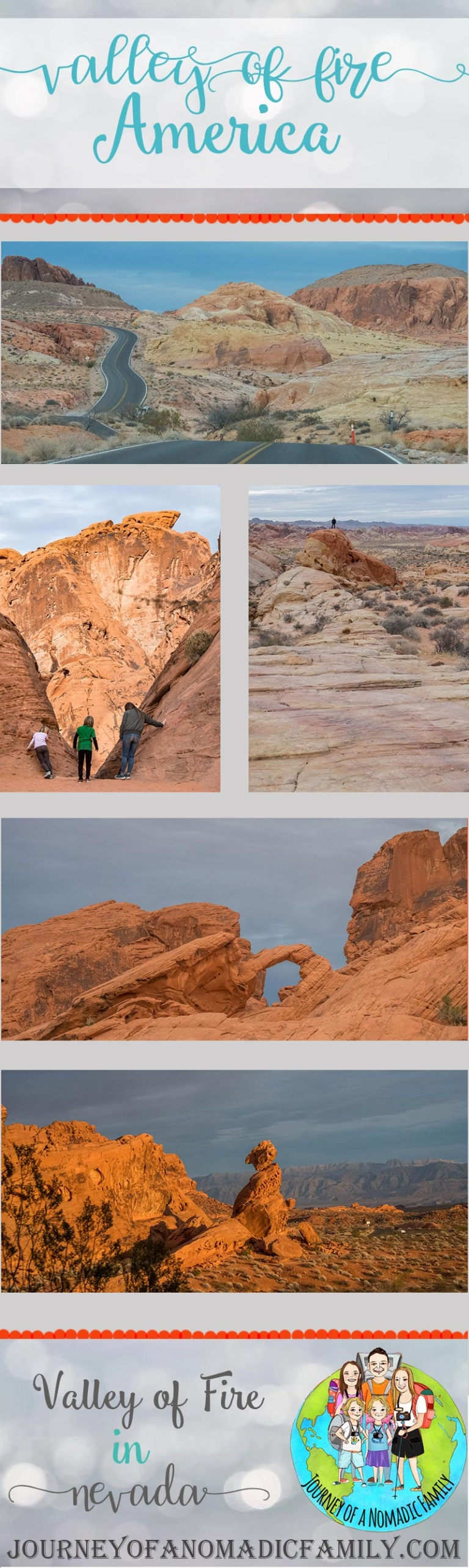 The Valley of Fire is an amazing national park in Nevada. Just an hour from Las Vegas, it's perfect for kids and adults to explore! Short hikes & loads to see.