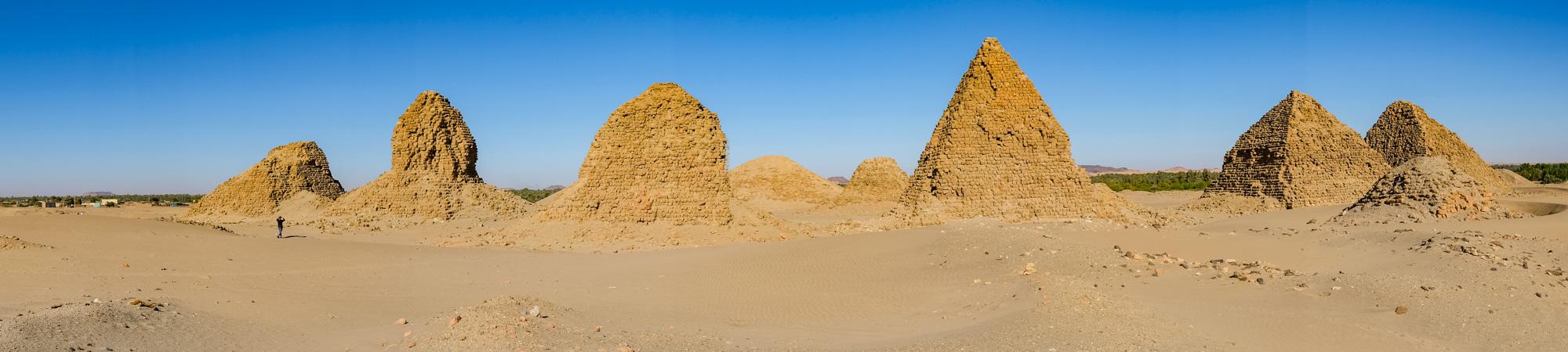 Nuri Pyramids Panoramic Sudan