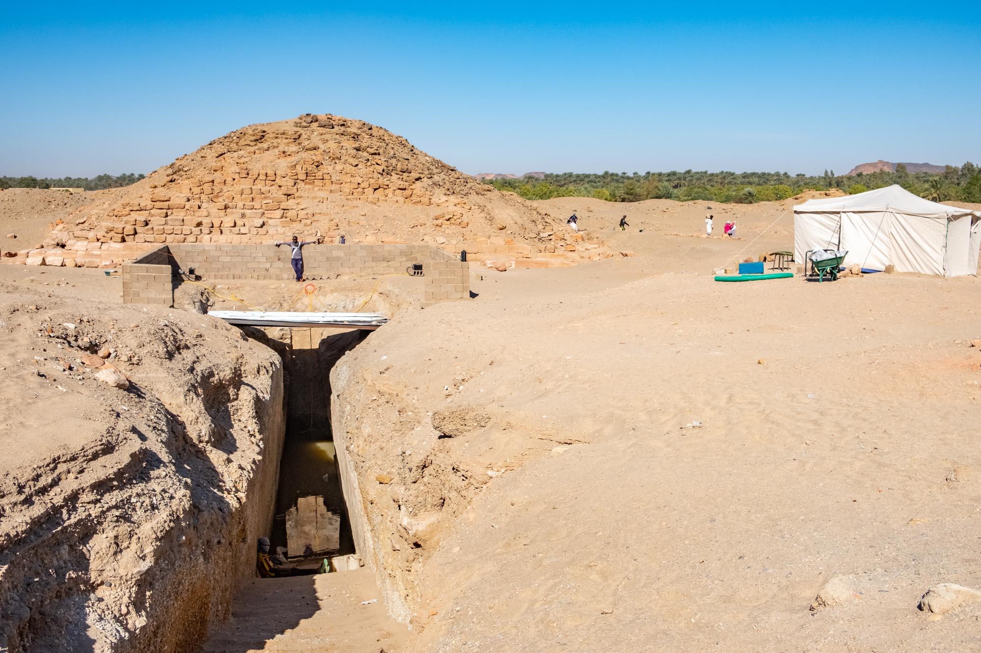 Archaelogical dig Nuri Pyramids Sudan