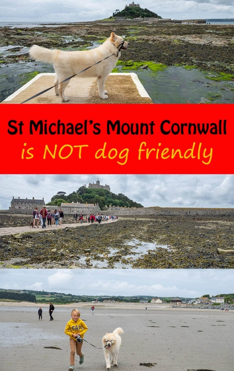 St michael's mount in cornwall is not dog friendly