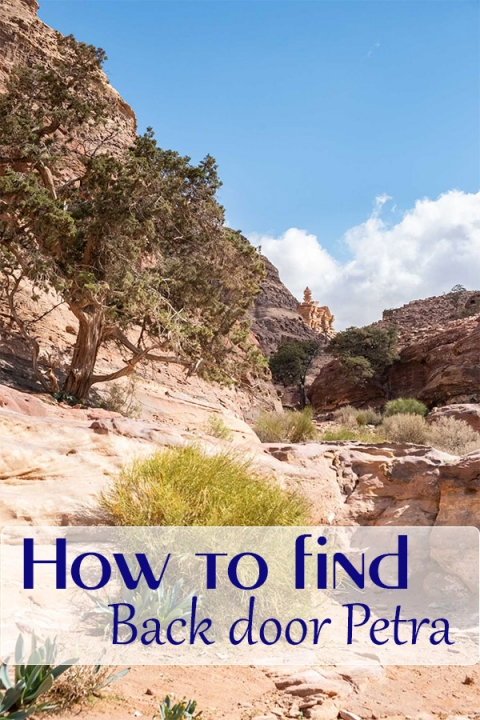 How to find the back door at Petra. Download the GPX file and hike yourself.