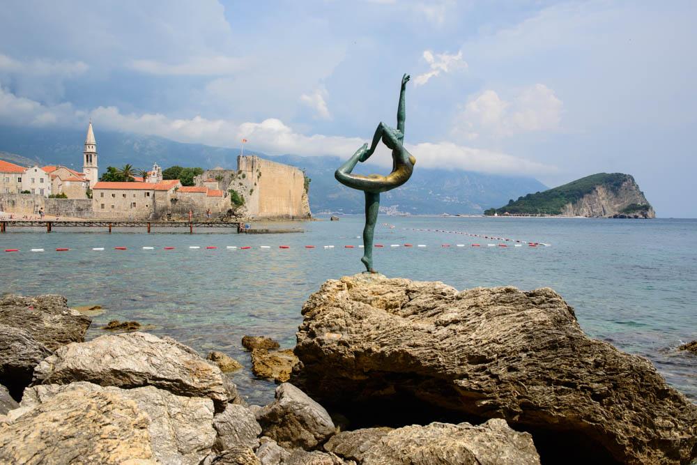 Budva's ballet dancer. Montenegro