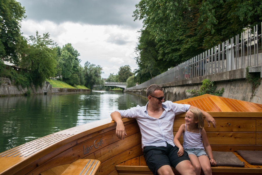 We took a Boat cruise in the rain. Ljubljana.