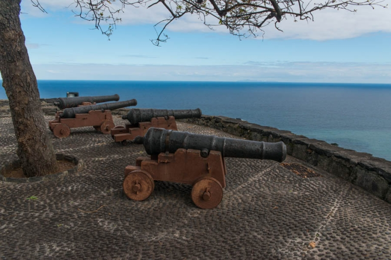 The cannons and Atlantic in the background.