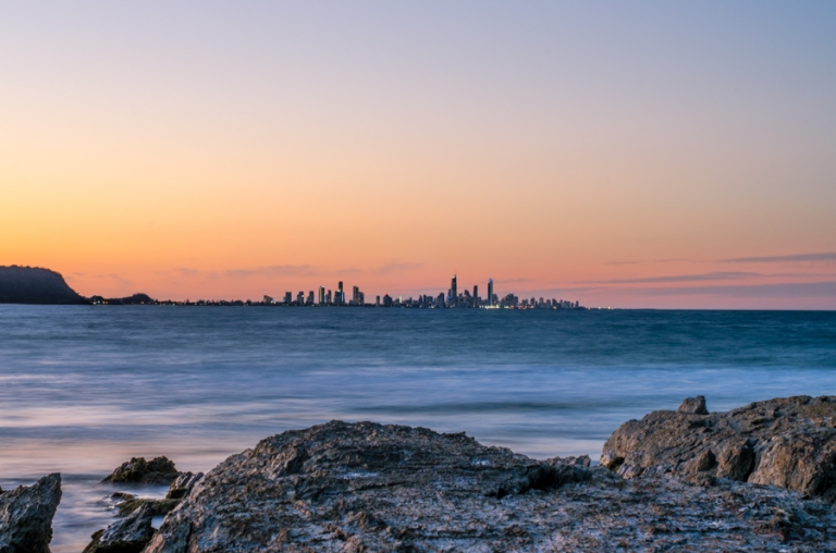 Currumbin Rocks, Sunset, Gold Coast.