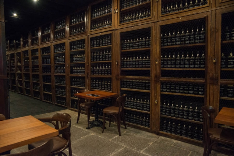 The expensive wine bar at Blandy's Wine Lodge