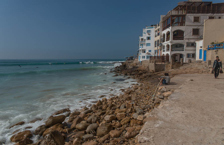 Lunch in Taghazout, Morocco